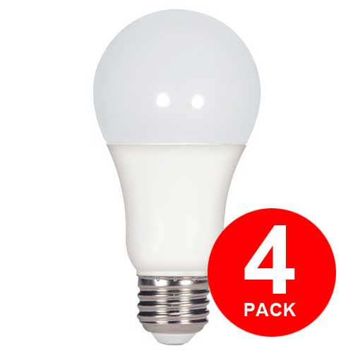 15.5W LED A19 HOUSEHOLD LIGHTBULB 2700K 4-PACK