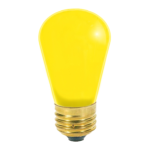 11W S14 CERAMIC YELLOW SIGN LAMP 130V 4 PACK..