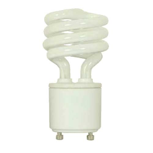Satco S8203 348 13gu2427 13w Twist Lock Mini Spiral Cfl 2700k