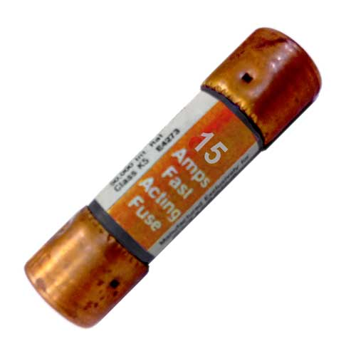 15Amp Cartridge Fuse, Fast Acting