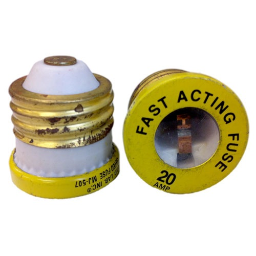 20Amp Screw-In Fuse, Fast Acting