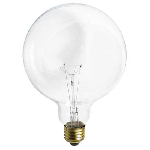 25W G40 5'' CLEAR GLOBE 120V. CASE OF 12..