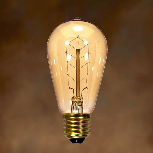 40w St19 Vintage Edison Style Light Bulb With Hair Pin Filament Case Of 6