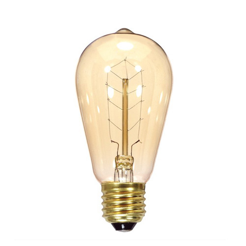 Newhouse Lighting 40w Equivalent Incandescent St19: SATCO S2414: $5.24 40ST19/CL/9S/Vintage: 40W ST19 VINTAGE