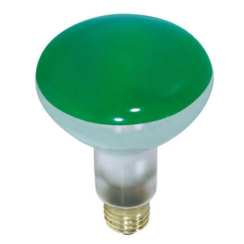75W BR30 / R30 3.75'' INDOOR FLOOD GREEN COLOR 130V..