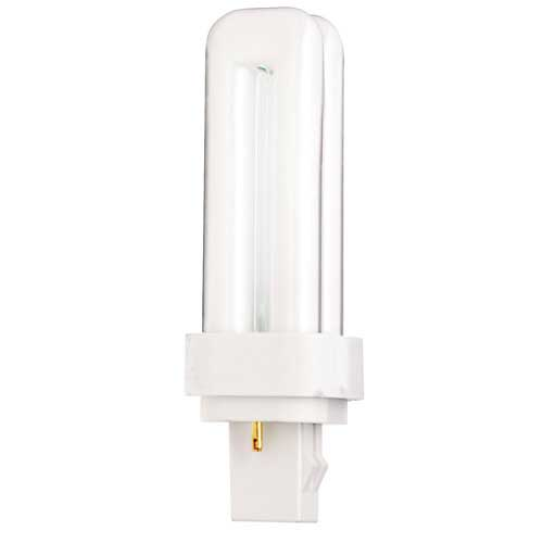 13W 2-PIN DOUBLE TUBE CFL 3000K. CASE OF 10