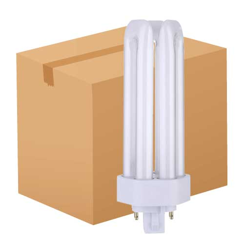 32W 4-PIN TRIPLE TUBE AMALGAM CFL 3000K. CASE OF 50