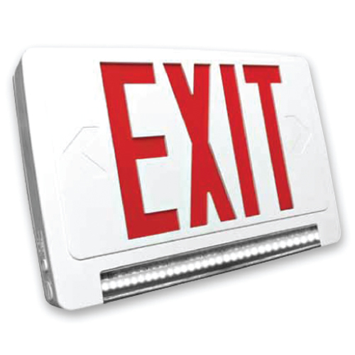 Lightpipe LED Exit & Emergency Combo (Red Letters)