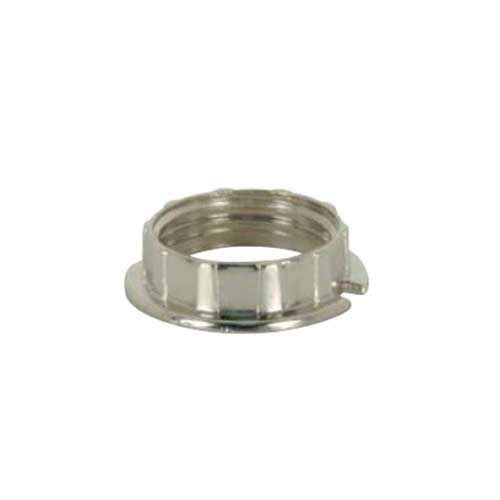 Chrome Ring For Threaded G9 Socket - To Stop Tubular Glass