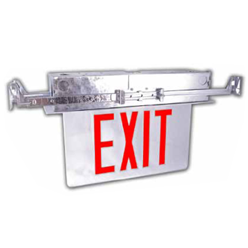 Recessed Aluminum LED Edgelit Exit Sign