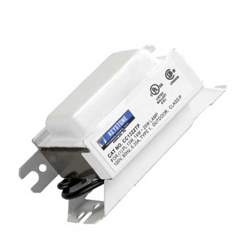 1/13 Compact Fluorescent Ballast - 1 Lamp 13W 2 Pin Magnetic 120V