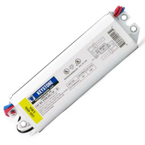 2/26 COMPACT FLUORESCENT BALLAST. 2X26W G24Q BASE RAPID START 120V
