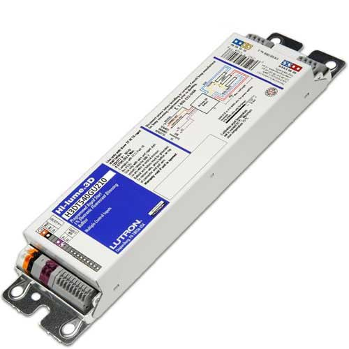 Lutron 97687   129 45 H3dt540gu210  2  40 Dimming Compact Fluorescent Ballast  2x40w Twin Tube