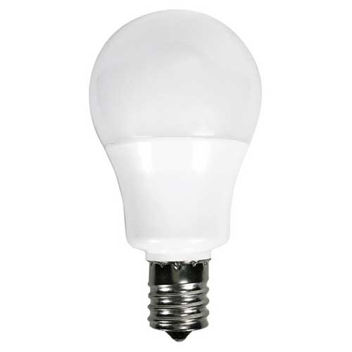 5.5W LED A15 VINTAGE CANDELABRA BASE LIGHT BULB 5000K DIMMABLE. CASE OF 6