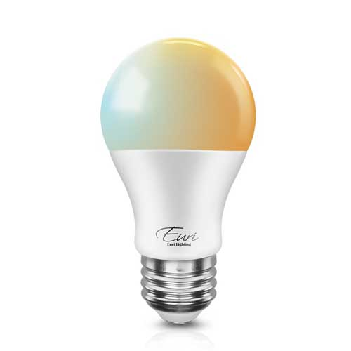 10W LED A19 SMART BULB. ADJUSTABLE COLOR TEMPERATURE 2000K - 5000K DIMMABLE. CASE OF 4
