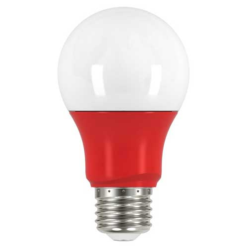 2W LED A19 COLORED HOUSEHOLD BULB RED