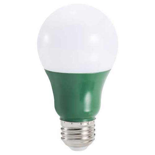 3W LED A19 HOUSEHOLD LIGHTBULB GREEN. CASE OF 6
