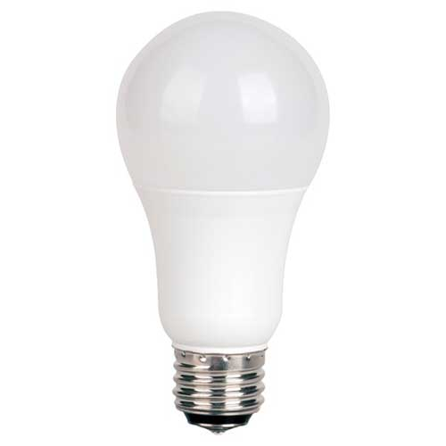 3/9/12W LED A19 3-WAY HOUSEHOLD LIGHTBULB 2700K HIGH CRI. CASE OF 6
