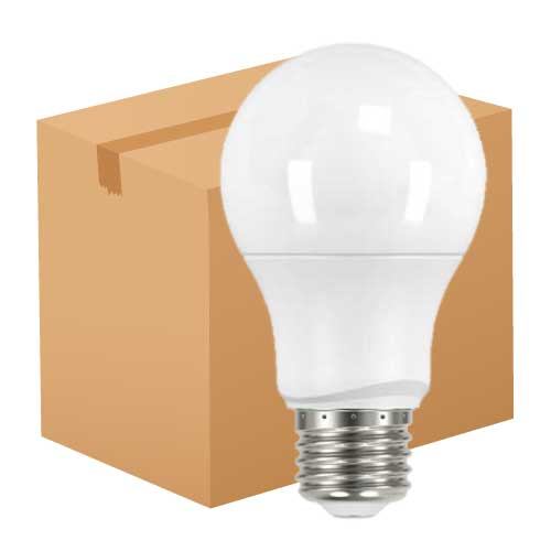 6.5W LED A19 HOUSEHOLD LIGHTBULB 2700K. CASE OF 24
