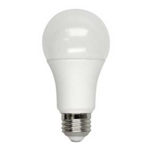 6W LED A19 HOUSEHOLD LIGHTBULB 4000K. DIMMABLE. CASE OF 25