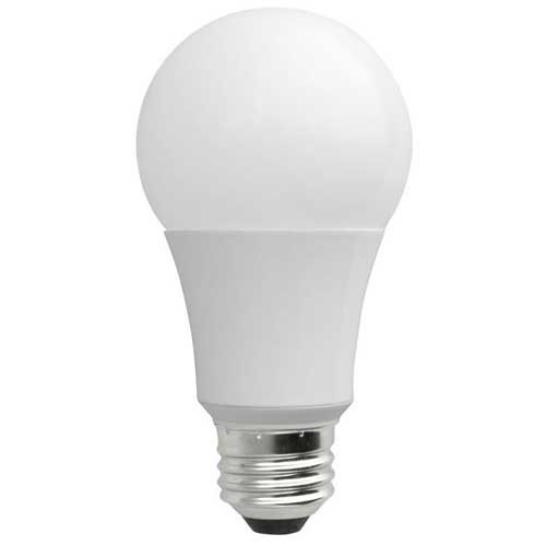 9.5W LED A19 HOUSEHOLD BULB 2700K DIMMABLE. CASE OF 12