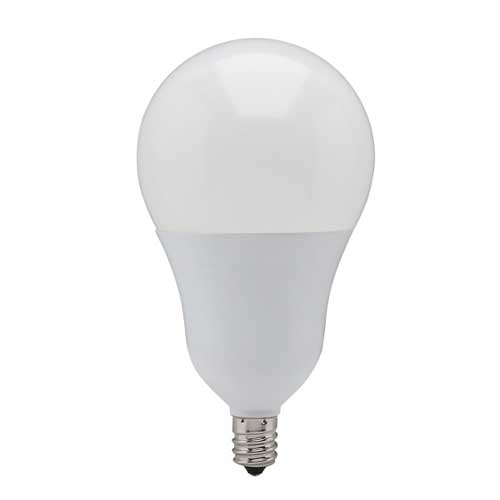9.8W LED A19 CANDELABRA BASE BULB 2700K. DIMMABLE. CASE OF 6