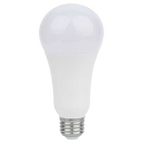 5/15/21W  3-WAY LED A21 HOUSEHOLD LIGHTBULB 3000K. NON-DIMMABLE. CASE OF 6