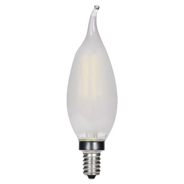 Frosted Light Bulbs >> 3 5w Led Ca11 Vintage Filament Style Frosted 2700k Light Bulb Dimmable Satco
