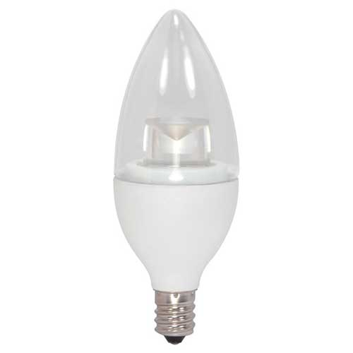 5W LED B11 CLEAR TORPEDO CANDELABRA BASE CANDELIER BULB HI CRI DIMMABLE