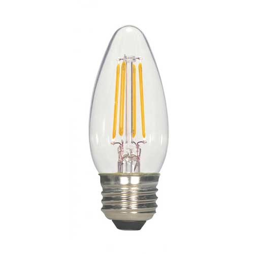 4.5W LED C35 VINTAGE FILAMENT STYLE TORPEDO LIGHT MEDIUM BASE 2700K DIMMABLE