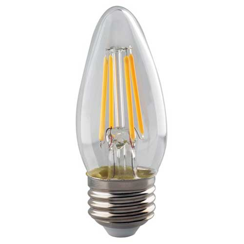 4W LED B11 VINTAGE FILAMENT STYLE TORPEDO LIGHT 2700K DIMMABLE HIGH CRI. CASE OF 6