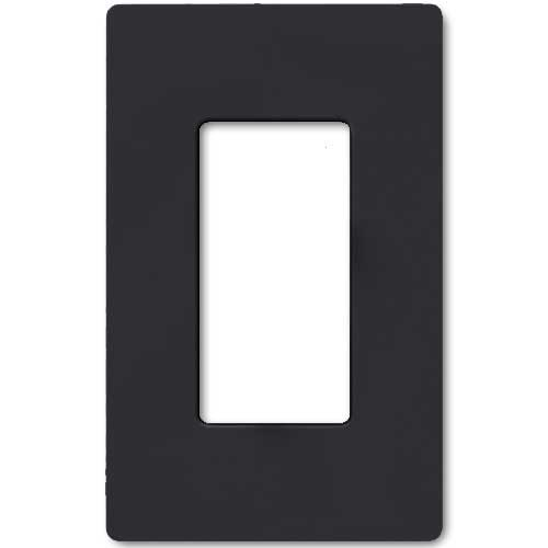 Claro Decorative Single Gang Face Plate - Black Color