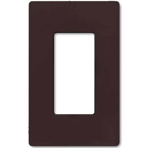 Claro Decorative Single Gang Face Plate - Brown Color