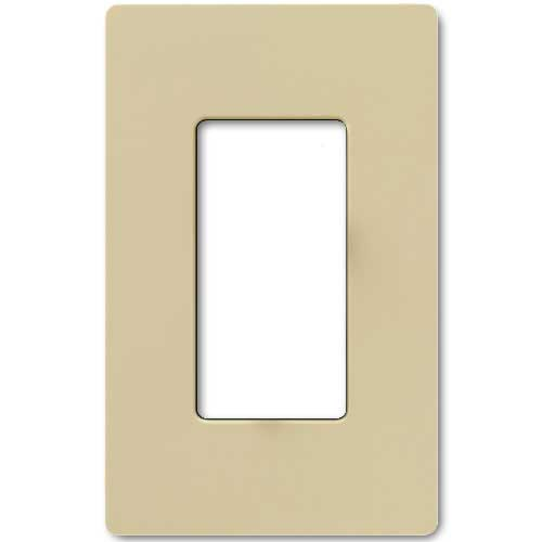 Claro Decorative Single Gang Face Plate - Ivory Color
