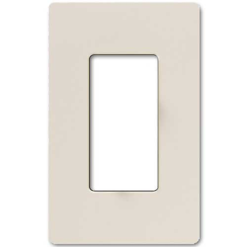 Claro Decorative Single Gang Face Plate - Light Almond Color