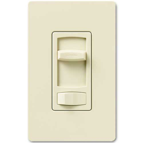 Skylark Dimmer For Dimmable LED And Fluorescents - Single Pole / 3-Way - Almond Color