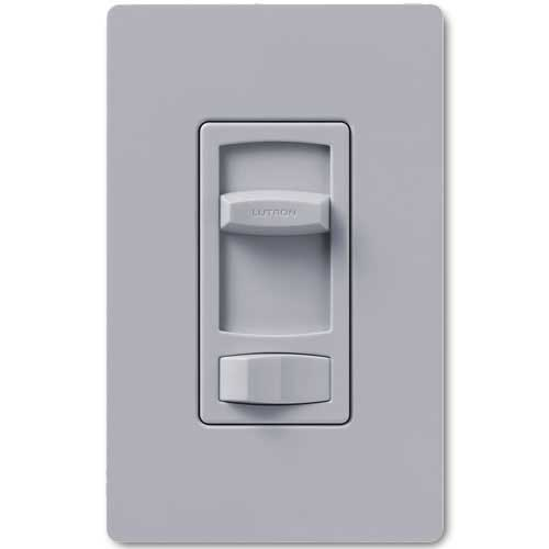 Skylark Dimmer For Dimmable LED And Fluorescents - Single Pole / 3-Way - Gray Color