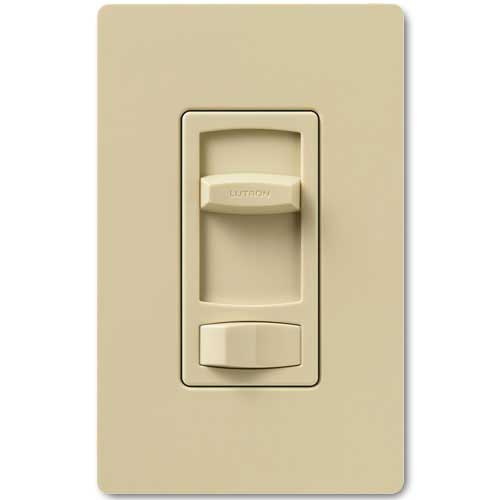 Skylark Dimmer For Dimmable LED And Fluorescents - Single Pole / 3-Way - Ivory Color