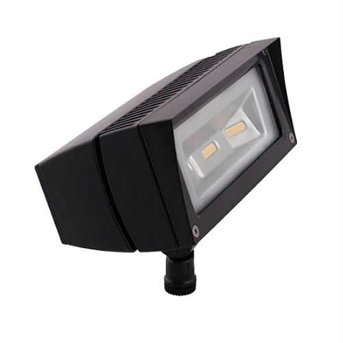 18W LED Flood Light Fixture - 3000K - Outdoor Rated - Bronze Housing