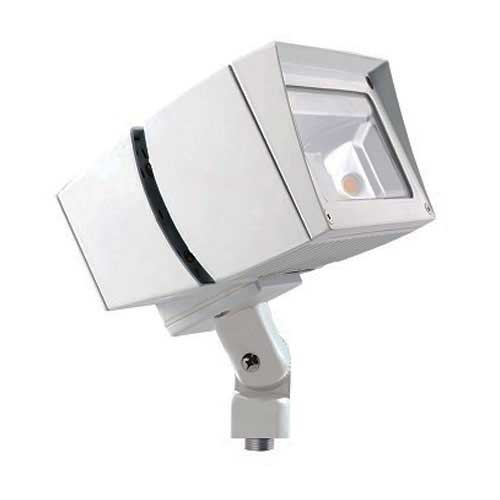 39W LED Flood Light Fixture - 3000K - Outdoor Rated - White Housing