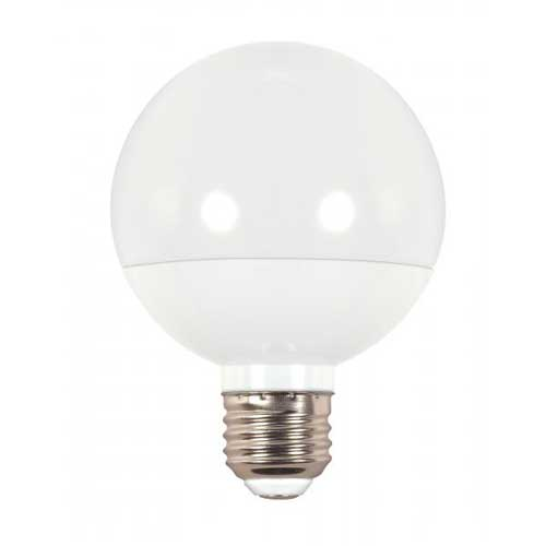 6W LED G25 GLOBE LIGHT 2700K DIMMABLE..