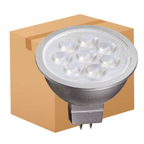6.5W LED MR16 12V FLOOD LIGHT 3000K DIMMABLE. CASE OF 12