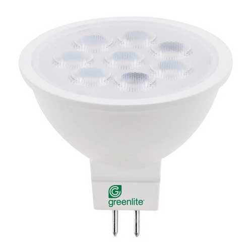 7W LED MR16 12V GU5.3 FLOOD LIGHT 2700K 40° BEAM DIMMABLE. CASE OF 24..