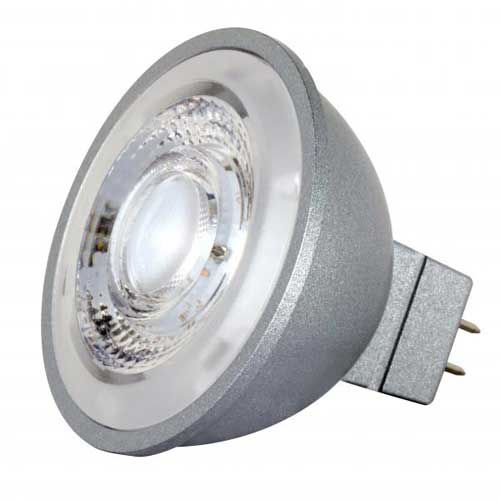 8W LED MR16 12V FLOOD LIGHT 2700K HI CRI DIMMABLE. CASE OF 6