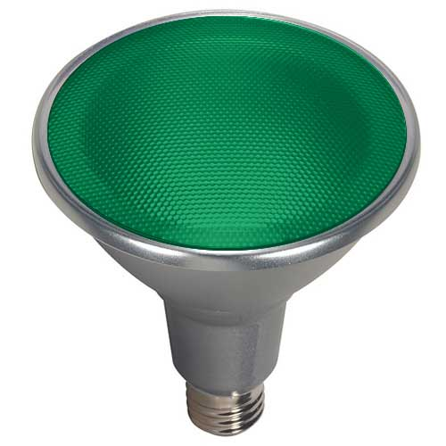 15W LED PAR38 FLOOD LIGHT 40° BEAM DIMMABLE GREEN COLOR