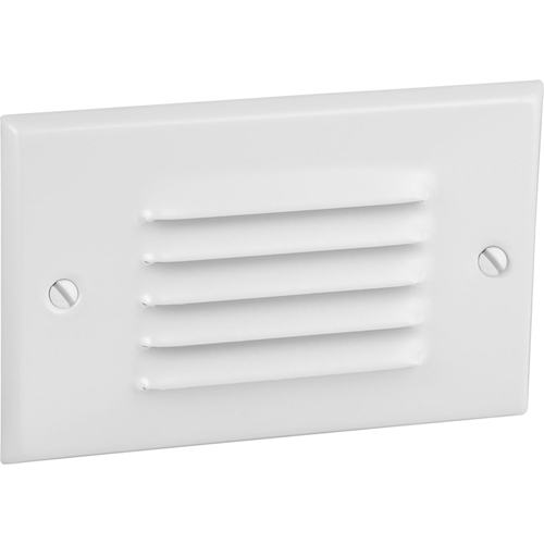 LED Step/Wall light. Horizontal Configuration, Louver Faceplate - White