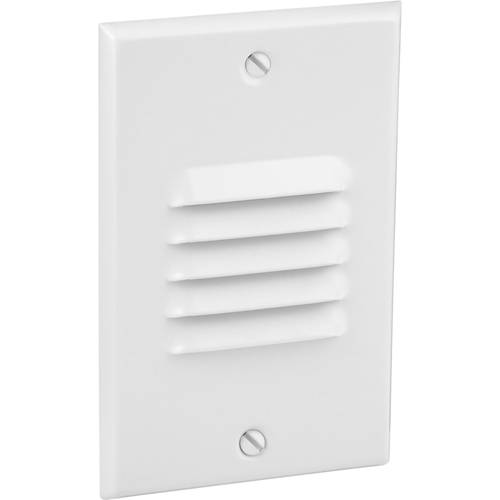 LED Step/Wall light. Vertical Configuration, Louver Faceplate - White
