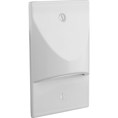 LED Step/Wall light. Vertical Configuration, Decorative Faceplate - White