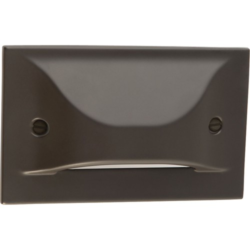 LED Step/Wall light. Horizontal Configuration, Decorative Faceplate - Antique Bronze