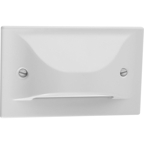 LED Step/Wall light. Horizontal Configuration, Decorative Faceplate - White